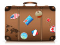 Suitcase its travel time vector illustration Royalty Free Stock Images