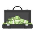 Suitcase with money