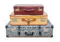 Suitcase picture of a stack of old suitcases Royalty Free Stock Photography