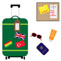 Suitcase Vacation Summer Holiday Accessories Stock Photos