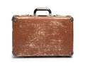Suitcase vintage brown on white background Royalty Free Stock Image