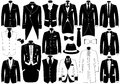 Suits Illustration Set Royalty Free Stock Images