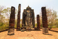 Sukhothai ancient city buddha relics Royalty Free Stock Photo