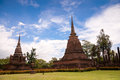 Sukhothai historical park. Buddhist temple ruins in Sukhothai historical park Stock Photography