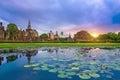 Sukhothai historical park thailand at sunset Royalty Free Stock Photography