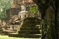 Sukhothai jungle temple ruins buddha thailand Royalty Free Stock Photo