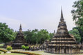 Sukhothai temple from thailand Stock Photo