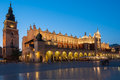 Sukiennice on The Main Market Square in Krakow Royalty Free Stock Photo