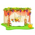 Sukkah for celebrating sukkot vector illustration of decorated Royalty Free Stock Photography