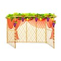Sukkah for celebrating sukkot vector illustration of decorated Royalty Free Stock Image