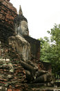 Sukothai large temple buddha side view thailand Royalty Free Stock Photo
