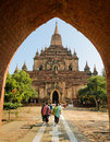 Sulamani temple in bagan myanmar is one of the most frequently visited photo taken on december Royalty Free Stock Photo