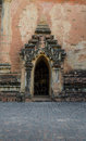 Sulamani temple myanmar ancient door sculpture of in bagan Stock Photo