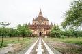 Sulamani temple (Pagoda) in Old Bagan (Pagan), Myanmar (Burma). Royalty Free Stock Photo