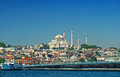 Suleymaniye mosque and the galata bridge in istanbul Stock Photos
