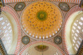 Suleymaniye mosque interior detail architecture ceiling decor Royalty Free Stock Photography