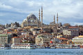Suleymaniye mosque in istanbul turkey a classical cityscape on a sunny day Royalty Free Stock Photo