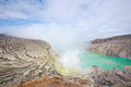 Sulfur Mine Indonesia Ijen Stock Images