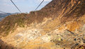 Sulfur mine Royalty Free Stock Photo