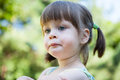 Sulky angry young girl  - sulking and pouting Royalty Free Stock Photo