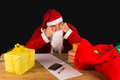 Sulky santa a completely fed up with the holiday season Stock Image