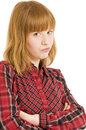 Sulky young woman Royalty Free Stock Image