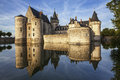 Sully sur loire france chateau of the loire valley Royalty Free Stock Photography