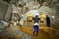 Sulpher miners of ijen volcano ijen indonesia the Royalty Free Stock Photos