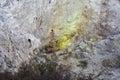Sulphur deposits in the bird s nest crater gvp Royalty Free Stock Image