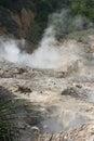 Sulphur springs soufriere сент люсия Стоковые Фотографии RF