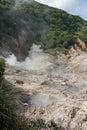 Sulphur springs soufriere st lucia Fotografia de Stock