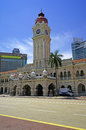 Sultan abdul samad building in kuala lumpur malaysia vertical photo with blue sky background Stock Photography
