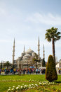 Sultan ahmed mosque blue mosque in istanbul april with tourists on april the is popularly known as the Stock Photo