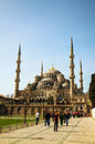Sultan ahmed mosque blue mosque in istanbul april with tourists on april the is popularly known as the Royalty Free Stock Photography