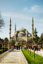 Sultan ahmed mosque blue mosque in istanbul april with tourists on april the is popularly known as the Royalty Free Stock Images