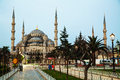 Sultan ahmed mosque blue mosque in istanbul early the morning Stock Images
