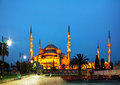 Sultan ahmed mosque blue mosque in istanbul the morning Royalty Free Stock Photography