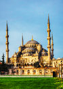 Sultan ahmed mosque blue mosque in istanbul the morning Stock Image