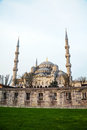 Sultan ahmed mosque blue mosque in istanbul the morning Royalty Free Stock Photo