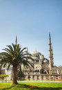 Sultan ahmed mosque blue mosque in istanbul turkey the morning Royalty Free Stock Image