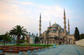 Sultan ahmed mosque blue mosque in istanbul turkey the morning Stock Images