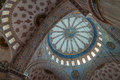 The sultan ahmed mosque dome interior decorations and of blue in istanbul was built from to during Royalty Free Stock Photo
