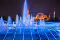 Sultan ahmed mosque istanbul at night Royalty Free Stock Photo