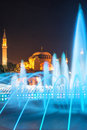 Sultan ahmed mosque istanbul at night Royalty Free Stock Images