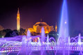 Sultan ahmed mosque istanbul at night Stock Photo