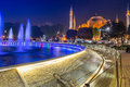 Sultan ahmed mosque istanbul at night Stock Photography