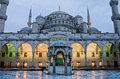 Sultan Ahmed Mosque known as the Blue Mosque in Istanbul, Turkey Royalty Free Stock Photo