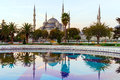 Sultan Ahmed Mosque (Blue Mosque), Istanbul, Turkey. Royalty Free Stock Photo