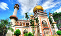 Sultan Mosque Royalty Free Stock Photo