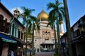 Sultan mosque palm trees and arab street singapore february a view of the main dome of s historic masjid masjid is the second Royalty Free Stock Photography